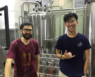 Daryl Yeap and Casey Choo at General Brewing Co